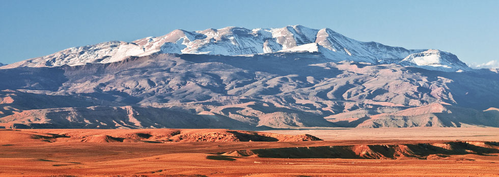 Snow-capped Atlas mountains