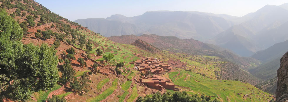 Berber village in the Ourika Valley
