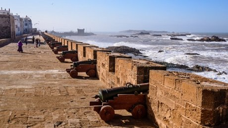 Morocco-adventure-holidays-Essaouira-ramparts-cannons
