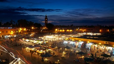 Imperial-Cities-Morocco-tours-Marrakech-Place Jemaa el Fna