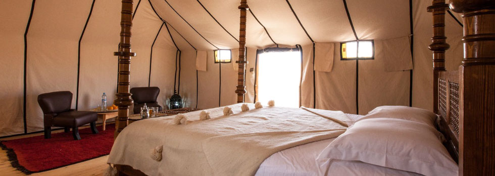 Luxury desert camp in Erg Chebbi