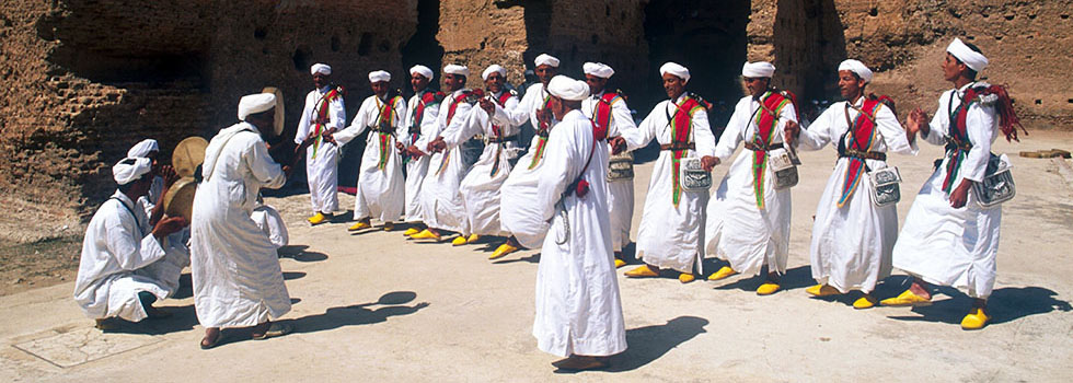 Traditional Moroccan folklore musicians