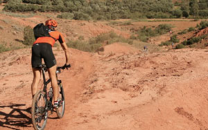 Off-road cycling in the Moroccan countryside
