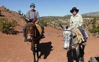 Mule trek in High Atlas Mountains, Morocco