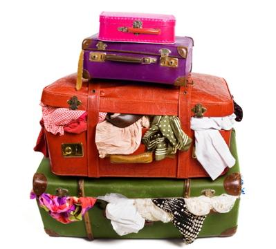 Over-packed Suitcases - Packing List